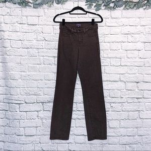 NYDJ Brown Straight Leg Jeans Size 4